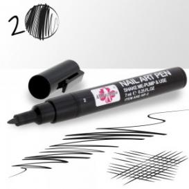 Pisak / flamaster do stylizacji paznokci 02-czarny 7ml
