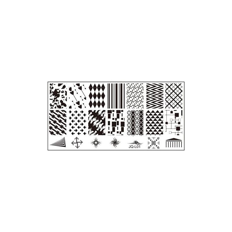 BLASZKI PŁYTKA STEMPEL rozmiar S 60x120 - JQ-L01