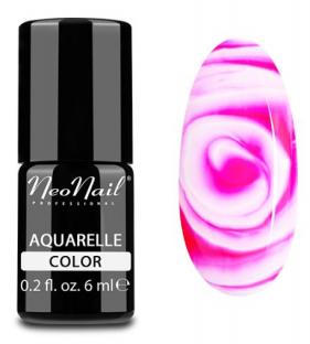 Neonail lakier hybrydowy 6 ml - raspberry aquarelle 5507
