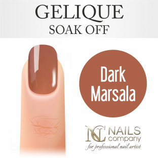 Nails Company Lakier Hybrydowy Dark Marsala 6 ml