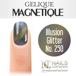 Nails company illusion glitter no. 250 - lakier hybrydowy magnetyczny 6 ml