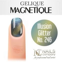 Nails company illusion glitter no. 246 - lakier hybrydowy magnetyczny 6 ml