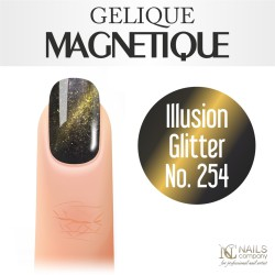 Nails company tiger eye, gelique magnetique 6ml - illusion glitter no. 254