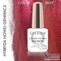 Nails company nails company gelique thermo salmon 6ml - żel hybrydowy, lakiero-żel
