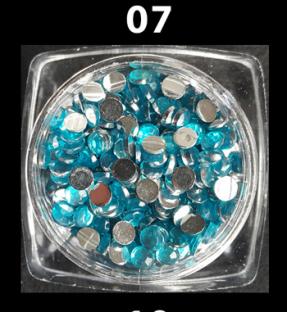 Cyrkonie zwykłe kolorowe 50 szt. ss12 nr d07