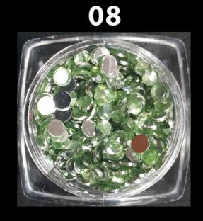Cyrkonie zwykłe kolorowe 50 szt. ss12 nr d08