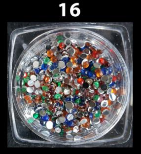 Cyrkonie zwykłe kolorowe 100 szt. ss3 nr z16