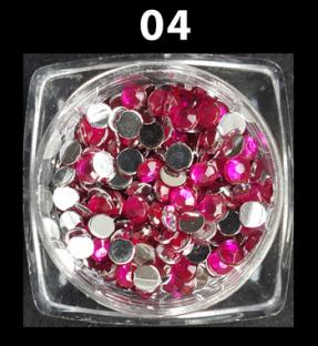 Cyrkonie zwykłe kolorowe 100 szt. ss12 nr d04