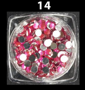 Cyrkonie zwykłe kolorowe 100 szt. ss12 nr d14