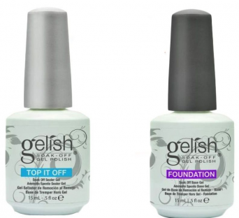 Gelish harmony uv zestaw baza base + top it off