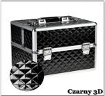 Kuferek kosmetyczny z kratownicą czarny 3d