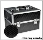 Kuferek kosmetyczny z kratownicą - czarny romby
