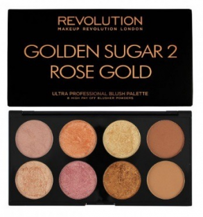 Makeup revolution ultra blush paleta golden sugar 2