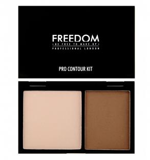 Freedom paleta zestaw rozświetlacz bronzer medium 01