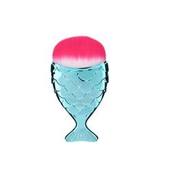 Pędzel brush do makijażu/ pyłu rybka turkusowa