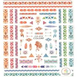 Naklejka samoprzylepna duża ca-015 azteckie wzory