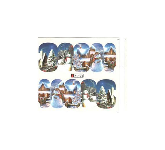 Świąteczne naklejki wodne a1138