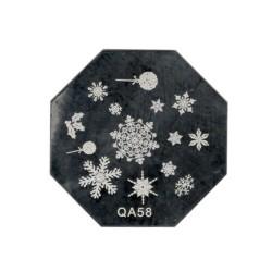 Blaszka świąteczna okrągła  - qa 58