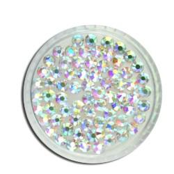 Cyrkonie szlifowane crystal ab opalizujące rozmiar ss12 - 100 sztuk