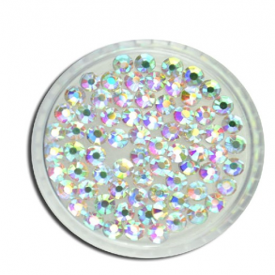 Cyrkonie szlifowane crystal ab opalizujące rozmiar ss10 - 100 sztuk