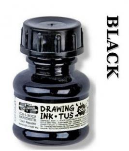 Tusz kolorowy do stylografu - czarny