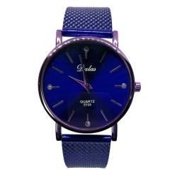 Zegarek dalas złota koperta niebieska bransoleta