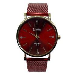 Zegarek dalas złota koperta czerwona bransoleta