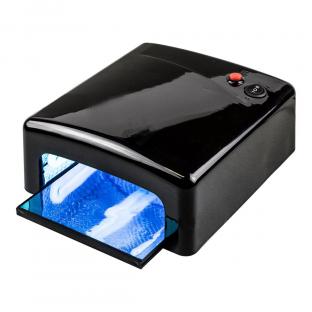 Lampa uv 36w kwadratowa do manicure hybrydowego - czarna
