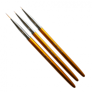 Zestaw pędzelków złotych do zdobień metal 5,7,11 mm