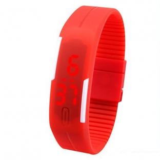 Zegarek silikon led sportowy opaska new! czerwień