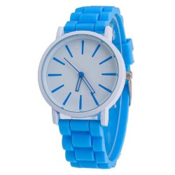 Zegarek damski pasek gumowy watch blue