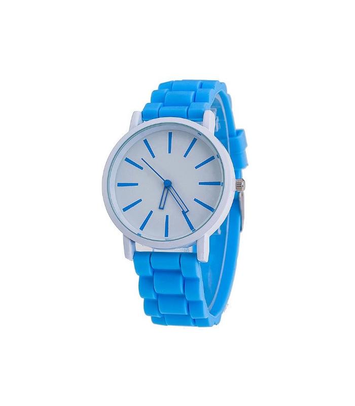 gumowy zegarek damski blękitny