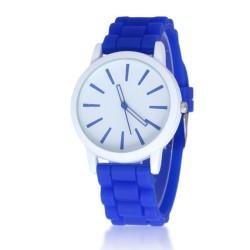 Zegarek damski pasek gumowy watch ciemny niebieski