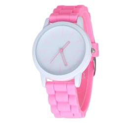 Zegarek damski pasek gumowy watch jasny róż