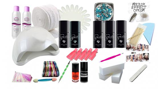 Zestaw manicure uv/led 48w 5x semilac gratisy su5