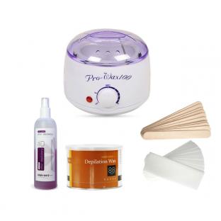Zestaw depilacja podgrzewacz wosk paski akcesoria