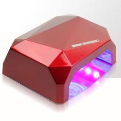 Led lampa ccfl uv 36w diamond sensor hybryda czerwona