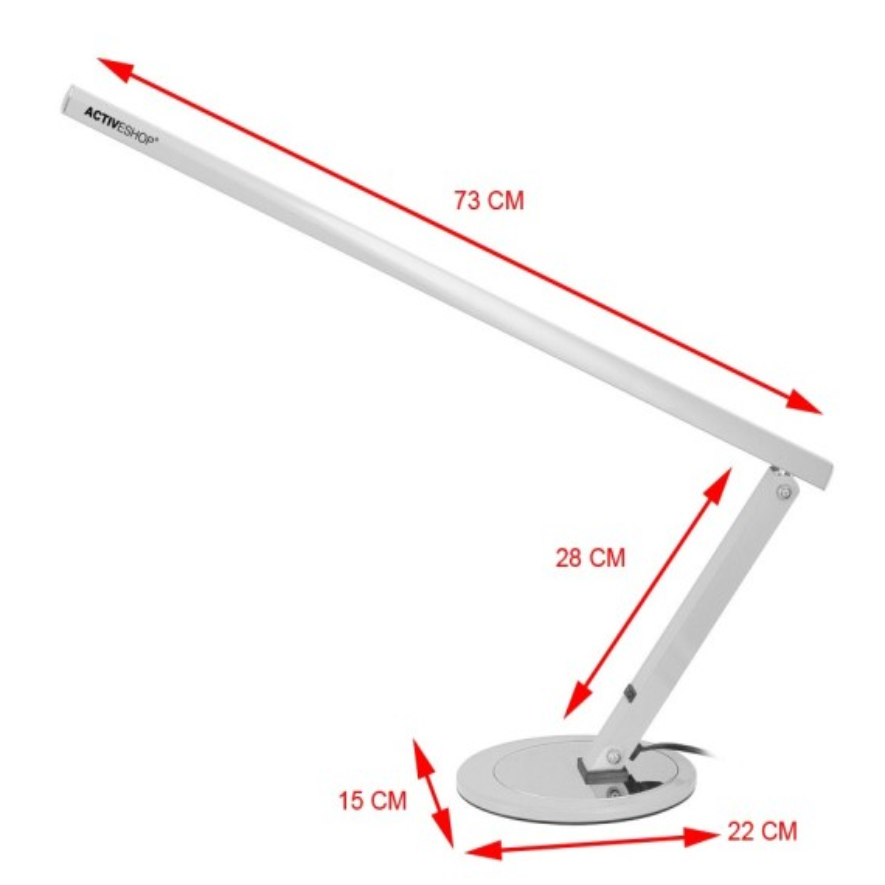 Slim lampa kosmetyczna LED Bezcieniowa SREBRNA