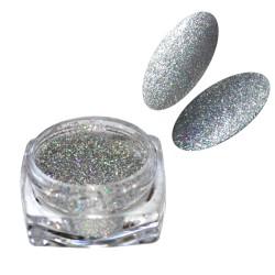 C3 pikselo efekt iskrzącego się diamentu laser silver holo