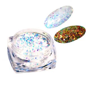 N5 pikselo efekt błyszczącego diamentu white-blue