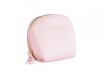 Kosmetyczna podróżna neonail torebka oragnizer pastelowy róż