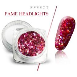 Pyłek efekt fame headlights brokat różowy w słoiczku 3ml