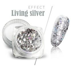 Pyłek efekt living silver brokat srebrny w słoiczku 3ml