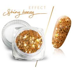 Pyłek efekt shiny honey brokat złoty w słoiczku 3ml