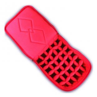 Kuferek na lakiery pikowany kufer kratownica etui czerwony