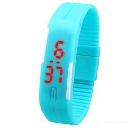 Zegarek silikon led sportowy opaska new! niebieski