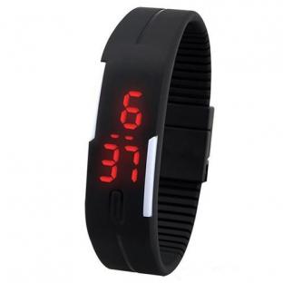 Zegarek silikon led sportowy opaska new! czarny