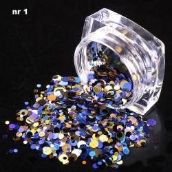 Efekt confetti metalic piegi słoiczek 01