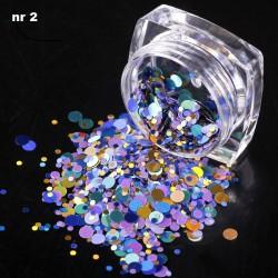 EFEKT Confetti Metalic PIEGI słoiczek 02