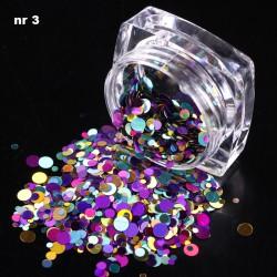 Efekt confetti metalic piegi słoiczek 03